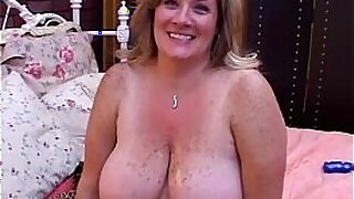 Bigtit BBW drinking cum from her dildo and fucked in her mature cunt - 20:27