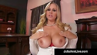 Sexy Julia Ann gets nailed doggystyle by these cocks - 11:57