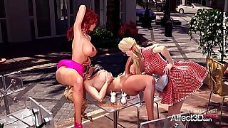 2:49: Threesome Two Girls Fucking in the Public Park