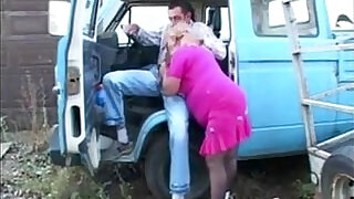 Fat Granny In Pink Fucking Outdoors - 16:00