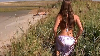 Big boobs teeny fucking oldman on the beach at xxx sexy porn