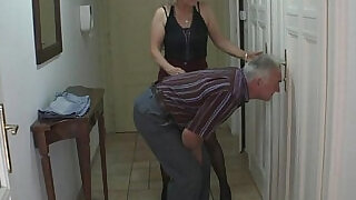 She gets into threesome by his parents at xxx sexy porn