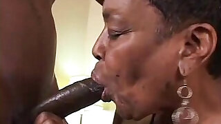 23:00: Black Granny Gets Some Young Cock