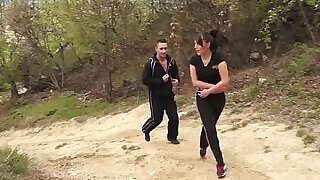 8:00: Bijou gets screwed hard style anal fuck after workout