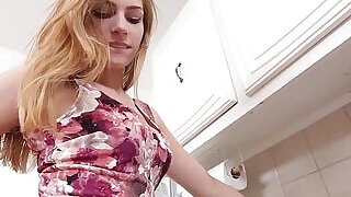 8:00: Teen creampied by workman