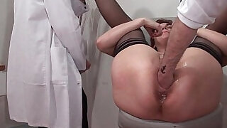 41:00: French squirt redhead ass inspected doublefist fucked at the gyneco