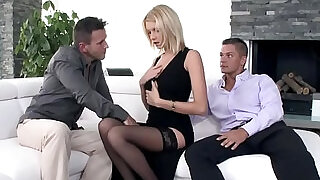 6:00: Glamour babe anally in threesome