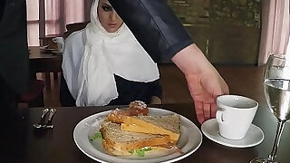 12:00: ARABSEXPOSED Hungry Woman Gets Food and Fuck