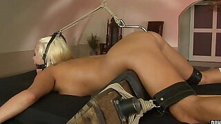 Blonde Jess abused and anal hooked - 44:00