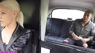 12:00: Female Fake Taxi Big black huge cock creampies blondes hot tight Czech pussy