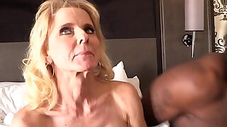 10:00: Cammille Gets Her Cougar Pussy Banged By Black Guys