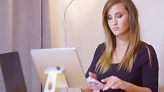 8:00: Babes Office Obsession Honey, Im Home starring Clea Gaultier and Naomi Bennet clip