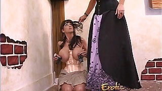 Brunette with massive melons has some kinky lesbian fun - 9:00