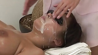 5:00: JAV full body bizarre cum facial massage clinic Subtitled