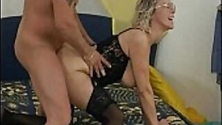 5:15: Nasty mature woman gets fucked really hard from