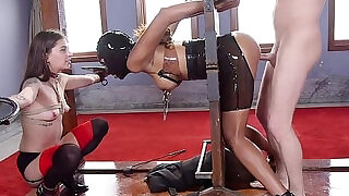 5:00: Sex toy and gag ball in bdsm training