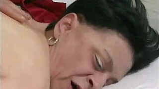 17:00: years old granny with nylons stocking