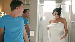 6:00: Huge boobies stepmom considering a breast reduction