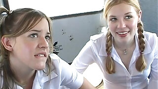 20:00: In the schoolbus cute schoolgirl blow and fuck . hd