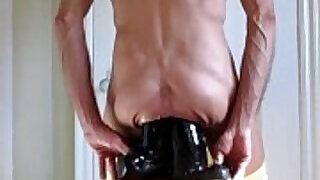 7:34: Panties Down For Double Fucking Anal Dildos