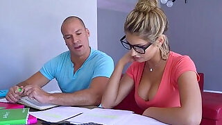 7:00: Sean licking down August Ames body starts with awesome tits