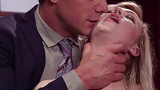 Couple submitting sexy young blonde slave in threesome - 5:00