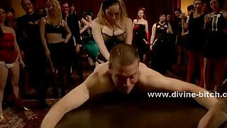 4:00: Ladies party turns nasty in femdom sex