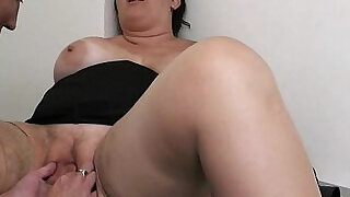 6:00: BBW takes hard from behind by co worker
