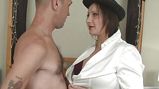 6:00: Busty Cop Hollie Benton Get All Holes Filled