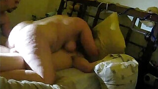 5:00: Cuckold filming wife fucking with lover making love.