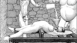 5:00: Dungeon terrors brutal extreme bdsm toons art