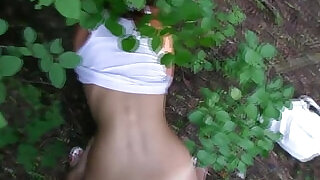 8:00: Pulled tanlined czech babe drilled outdoors