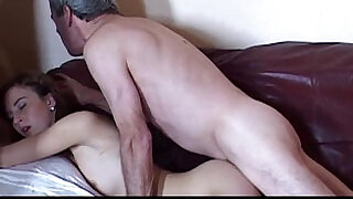 6:00: Caught wanking grandpa gets anal fuck from this girl